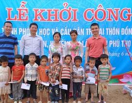 Khởi công công trình phòng học Dân trí thứ 19 và cầu Dân trí thứ 16 tại Phú Thọ
