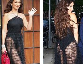 Bella Hadid bốc lửa với váy xuyên thấu táo bạo