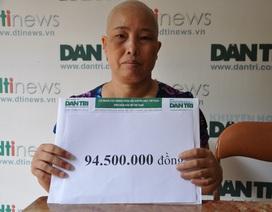 Gần 95 triệu đồng đến với chị Huê bị ung thư vú