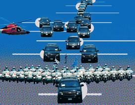 Dàn xe 50 chiếc hộ tống Tổng thống Trump tới gặp ông Kim Jong-un