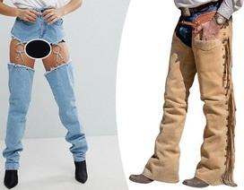 Sửng sốt với mẫu quần jeans lấy cảm hứng từ trang phục cao bồi