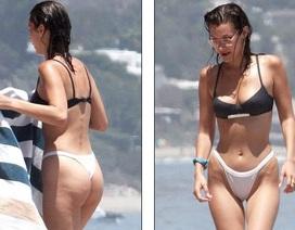 Bella Hadid quyến rũ với bikini đen trắng