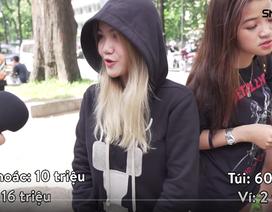 """""""Choáng"""" clip bóc giá quần áo, giày dép hàng hiệu trăm triệu đồng của bạn trẻ Sài Gòn"""