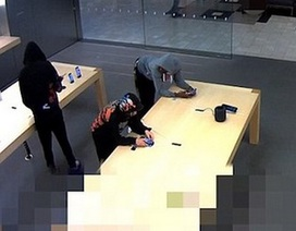Ngang nhiên trộm giữa ban ngày hàng chục chiếc iPhone tại Apple Store