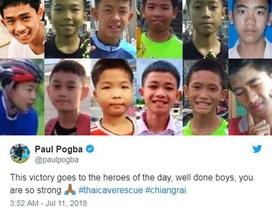 Paul Pogba dành tặng chiến thắng cho đội bóng nhí Thái Lan