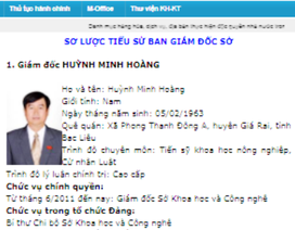 Bạc Liêu miễn nhiệm Ủy viên UBND tỉnh đối với ông Huỳnh Minh Hoàng