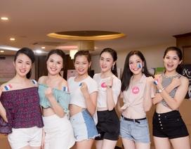 Người đẹp Hoa hậu Việt Nam gợi cảm cổ vũ chung kết World Cup