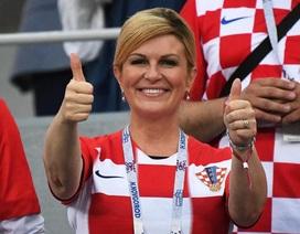 """Nữ Tổng thống mê bóng đá """"tiếp lửa"""" cho đội tuyển Croatia"""