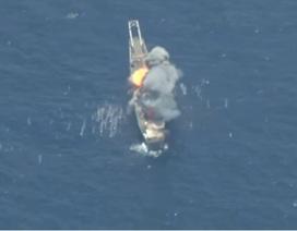 Cận cảnh tên lửa khai hỏa đánh chìm tàu chiến trong cuộc tập trận RIMPAC