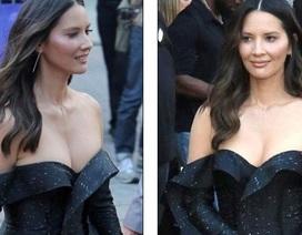 Olivia Munn đẹp hút hồn với váy trễ nải
