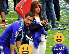 """""""Bật mí"""" về bà xã xinh đẹp cực kì kín tiếng của Eden Hazard"""