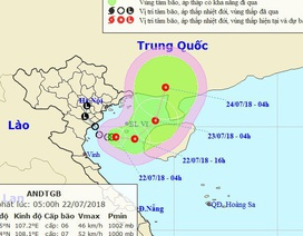 Áp thấp nhiệt đới gây mưa giông mạnh ở Vịnh Bắc Bộ