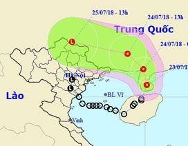 Áp thấp nhiệt đới vào đất liền Trung Quốc