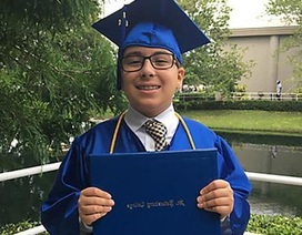 Thần đồng 11 tuổi tốt nghiệp đại học ở Mỹ