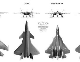 """Đọ sức mạnh """"Rồng dũng mãnh"""" J-20 và """"Chim ăn thịt"""" F-22"""