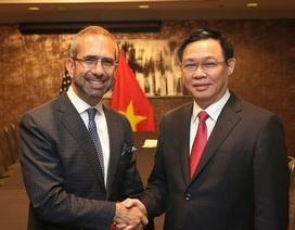 Phó Thủ tướng Vương Đình Huệ gặp Phó Chủ tịch Tập đoàn Coca-Cola tại Washington D.C