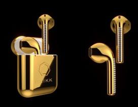 """""""Choáng"""" với tai nghe AirPods mạ vàng, đính kim cương, đắt gấp 10 iPhone X"""