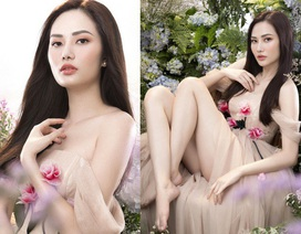 """Hoa hậu Du lịch Toàn cầu Diệu Linh """"lẳng lơ"""" kéo váy khoe chân sexy"""