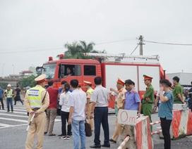 Dựng lại hiện trường vụ xe khách tông xe cứu hỏa trên cao tốc Pháp Vân