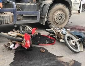 Người phụ nữ chết thảm dưới bánh xe bồn