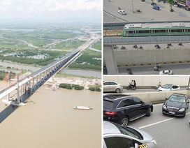 """Tàu đường sắt trên cao """"lướt"""" qua các tuyến phố và cầu Bạch Đằng sắp hoàn thành"""