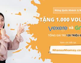 NhansuNhamay.com tặng bạn 1.000 voucher giảm giá Vexere và Grab
