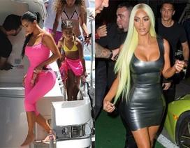 Kim Kardashian liên tục khoe thân với trang phục bó sát