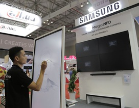 Samsung trình diễn giải pháp màn hình chiếu và kiểm soát an ninh tại Việt Nam