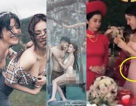 """Ồn ào Á hậu chụp ảnh dung tục như """"phim cấp 3""""; tin đồn Nhã Phương """"cưới chạy"""""""