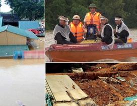 """Xót xa cảnh đưa tang trên dòng lũ và công trình chục tỷ """"lở loét"""" sau mưa"""
