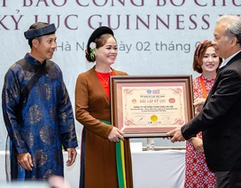 """""""Tinh hoa Bắc Bộ"""" lập """"cú đúp"""" kỷ lục Guinness Việt Nam"""
