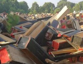 Kinh hoàng tái chế hàng ngàn chiếc quan tài thành đồ nội thất mới cứng