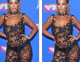"""Choáng váng với váy """"mặc như không"""" của Rita Ora"""