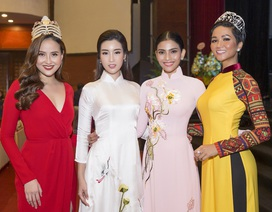 H'Hen Niê, Đỗ Mỹ Linh chúc mừng sinh nhật Trương Thị May trên sân khấu