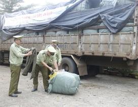 Bắt xe tải chở 14 tấn đồ áo nhập lậu đang vận chuyển đi tiêu thụ