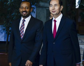 Chủ tịch nước Trần Đại Quang hội kiến Thủ tướng Ethiopia 
