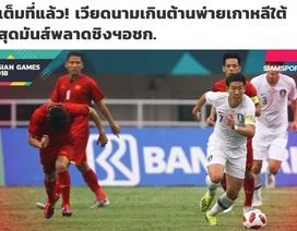 Báo Thái Lan an ủi Olympic Việt Nam sau thất bại trước Hàn Quốc