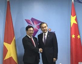 Phó Thủ tướng Phạm Bình Minh nói về Biển Đông khi gặp Bộ trưởng Trung Quốc