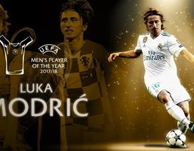 Vượt C.Ronaldo và Salah, Luka Modric giành giải Cầu thủ xuất sắc nhất UEFA