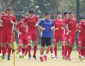 Olympic Việt Nam thảnh thơi, tập kín chờ đấu UAE