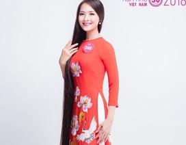 Ngắm người đẹp Hoa hậu Việt Nam có mái tóc dài 1m4