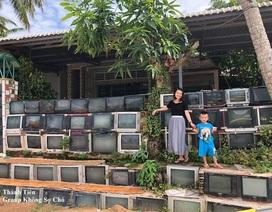 Ngôi nhà có hàng rào xếp từ tivi khiến dân mạng thích thú