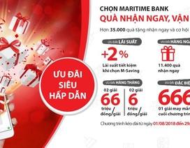 Hàng nghìn giải thưởng tặng ngay mỗi ngày nhân dịp sinh nhật Maritime Bank