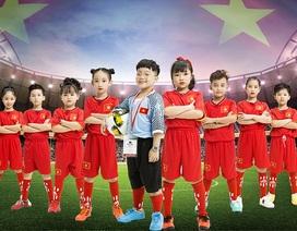 """Dàn nhóc tì đáng yêu hoá """"tuyển nhí"""" cổ vũ đội tuyển Olympic Việt Nam"""