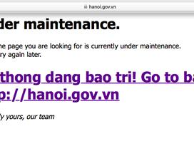Cổng thông tin TP Hà Nội bị sập