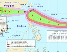 "Siêu bão Mangkhut đang ""đuổi theo"" bão số 5"