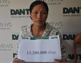 Bạn đọc tiếp tục giúp đỡ em Lan bị suy thận hơn 13 triệu đồng
