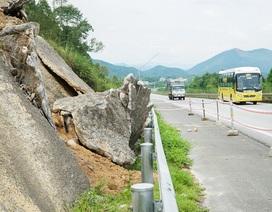 Xuất hiện nhiều điểm sạt lở trên cao tốc Nội Bài - Lào Cai