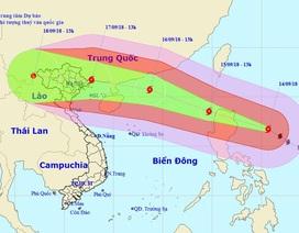 Siêu bão Mangkhut sẽ ảnh hưởng trực tiếp 27 tỉnh phía Bắc và Thanh Hóa