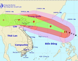 Hôm nay siêu bão Mangkhut vào Biển Đông